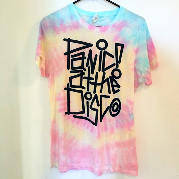 2e0f1503 Hot Topic Tops | Panic At The Disco Pastel Tie Dye Tshirt | Poshmark
